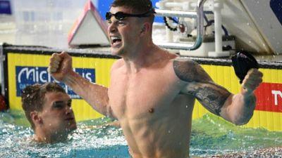 Euro de natation: le record du monde de Peaty révisé à la hausse après un chrono mal configuré