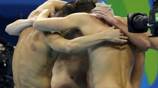 Nuoto: Europei, Italia bronzo 4X200 sl