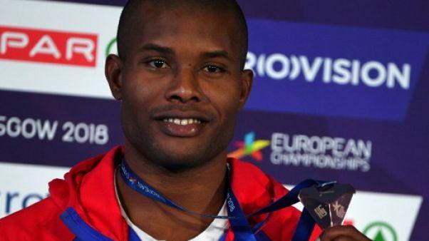 Mehdy Metella médaillé de bronze aux Championnats d'Europe, le 5 août 2018