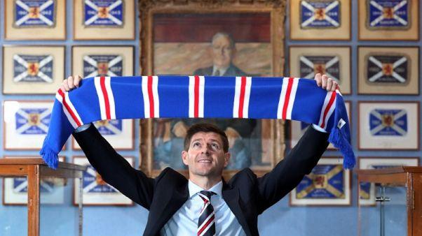 Soccer - Rangers boss Gerrard denied opening win by last-gasp goal