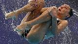 Synchronised Swimming - Ukraine strike gold in Russia's absence