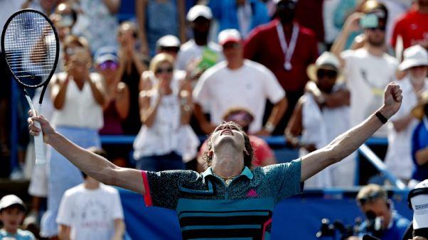 Tennis - Zverev repeats in Washington with win over De Minaur