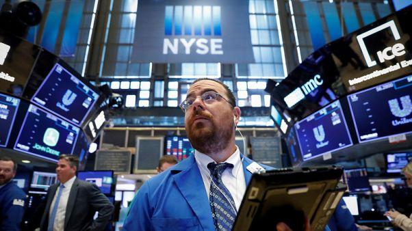 Global earnings boost stocks as trade fears cap gains; sterling slumps
