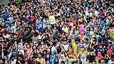 Des étudiants bangladais manifestent à Dacca, le 5 août 2018