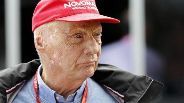 F1: medici,'condizioni Lauda migliorano'