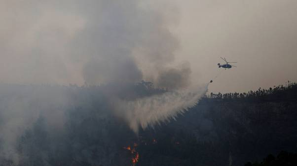 Wildfire burns in Portugal for fourth day, 1,150 firefighters mobilize