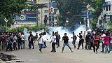 Des étudiants bangladais lors de manifestations à Dacca, le 5 août 2018.