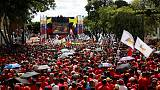 Venezuela's Maduro a no-show at support rally after drone blasts