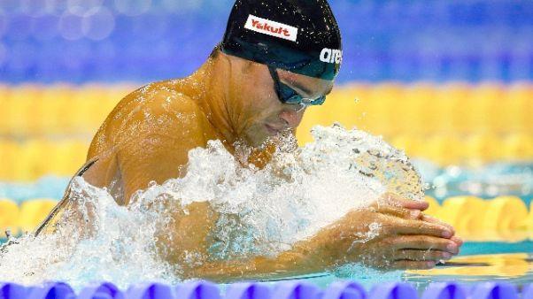 Europei nuoto: Pizzini bronzo 200 rana