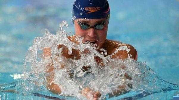 Natation: un record et un titre européen pour Chupkov sur 200 m brasse