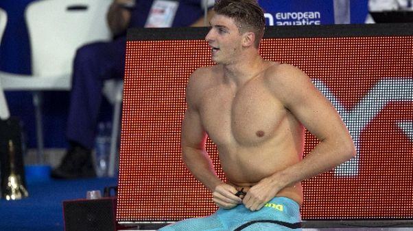 Europei nuoto: bronzo Italia 4x100 mista