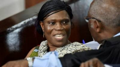 Simone Gbagbo lors de son procès à Abidjan, le 10 octobre 2016