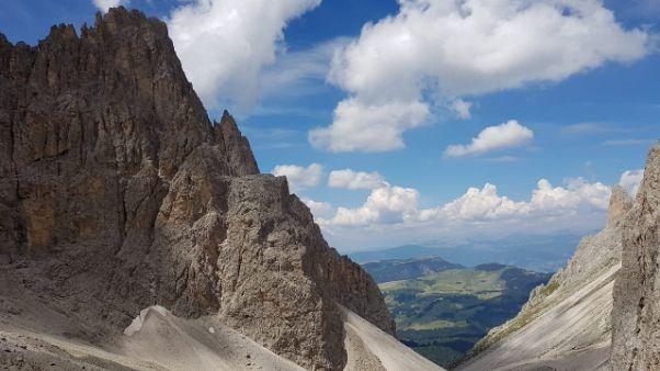 Dolomiti: a passo Sella via divieti
