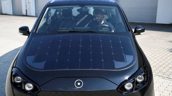 German start-up trials solar car that can charge as you drive
