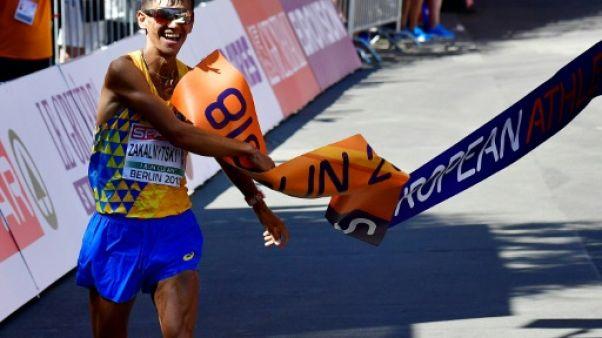 Euro d'athlétisme: victoire du jeune Ukrainien Zakalnytskyy 50 km marche