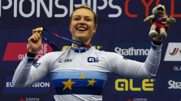 Cyclisme sur piste: Mathilde Gros championne d'Europe du keirin