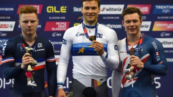 Euro de cyclisme sur piste: Sébastien Vigier en argent sur le keirin