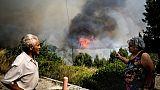 Progression de feu à Monchique, dans le sud du Portugal, le 7 août 2018