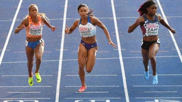 Athlétisme: les Françaises Zahi et Ombissa-Dzangue en finale du 100 m