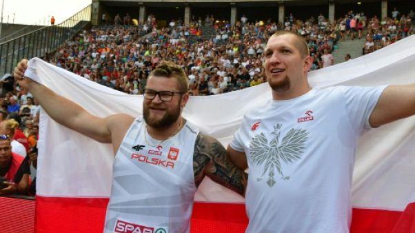 Athlétisme: doublé polonais au lancer du marteau