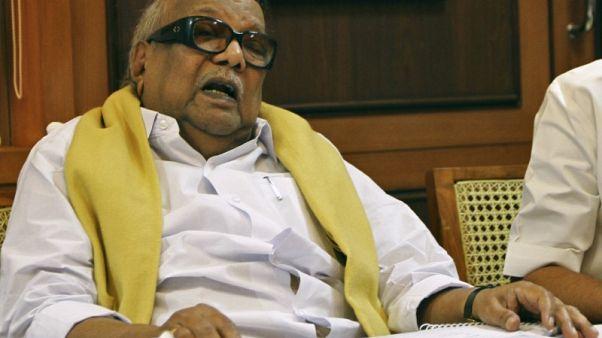 Veteran south Indian leader Karunanidhi dies at 94 - hospital authorities