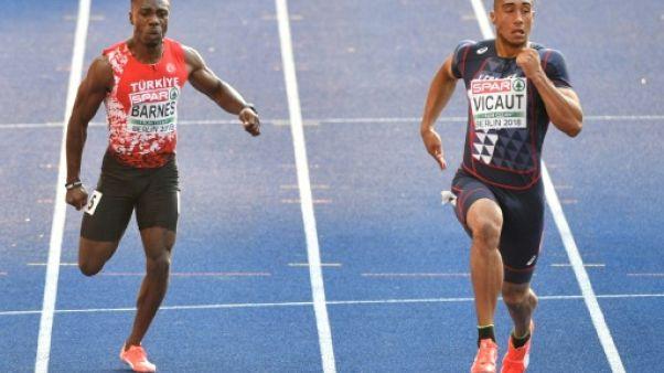 Athlétisme: Jimmy Vicaut forfait pour la finale du 100 m