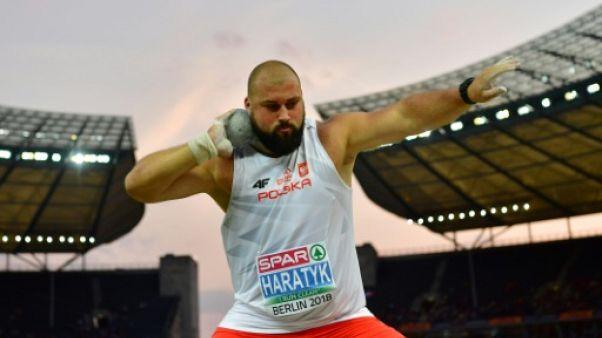 Athlétisme: doublé polonais au lancer du poids, le titre pour Michal Haratyk