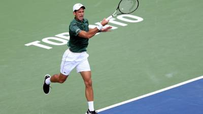 Le Serbe Novak Djokovic lors du tournoi de Toronto, le 7 août 2018