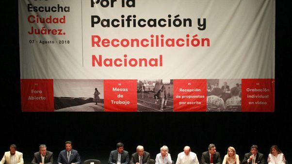 Mexican president-elect asks Ciudad Juarez violence victims to forgive