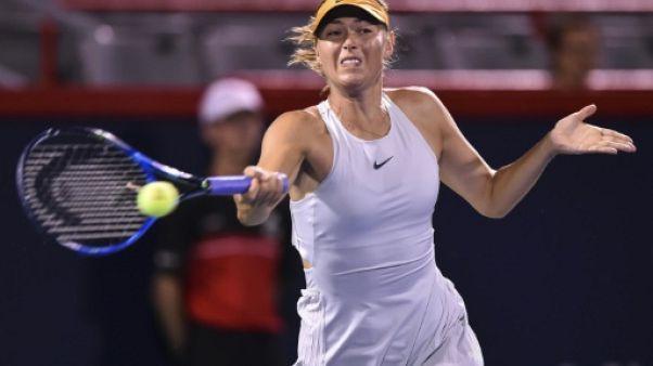 Tennis: Sharapova en deux temps, Muguruza forfait, à Montréal