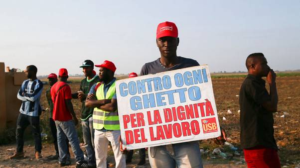African migrants protest in Italy after road deaths