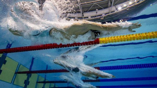 Europei nuoto: 4x100sl mista, Italia 4/a