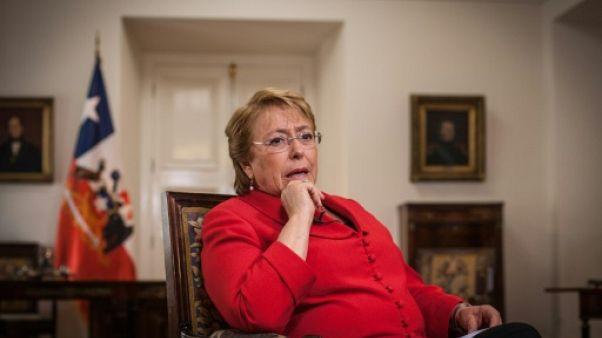 La présidente du Chili Michelle Bachelet le 19 janvier 2017 à Santiago