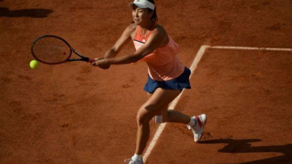 La Chinoise Peng Shuai au 2e tour de Roland-Garros, le 31 mai 2018