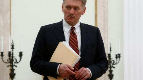 Le porte-parole du Kremlin, Dmitri Peskov, à Moscou, le 27 mars 2017