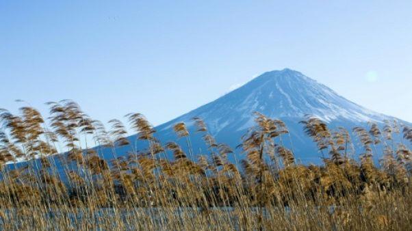 Le Mont Fuji au Japon, le 2 janvier 2018