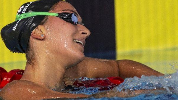 Europei nuoto: Quadarella oro nei 400 sl