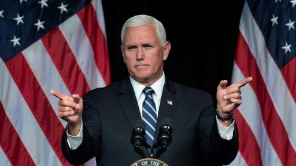 Le vice-président Mike Pence au Pentagone près de Washington le 9 août 2018