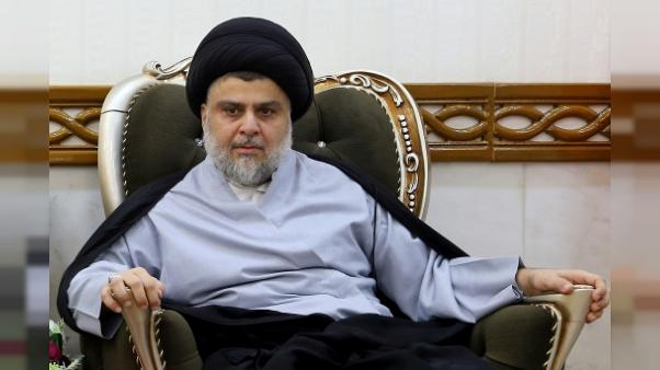 Le chef populiste Moqtada Sadr à Najaf en Irak, le 23 juin 2018