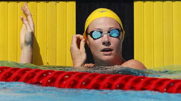 Swimming - Campbell electric as Australians claim 100m freestyle golden double