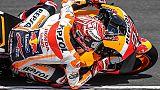 Moto: Austria, in FP2 bagnata Marquez va