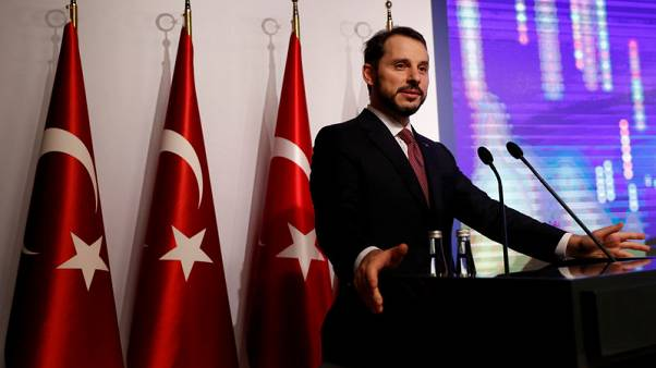 Turkey's Albayrak rolls out new economic plan, but lira slide continues