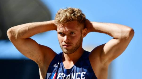 Kevin Mayer lors des championnats d'Europe à Berlin le 7 août 2018