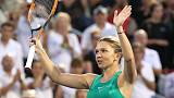 Halep defeats Garcia to reach semi-final in Montreal