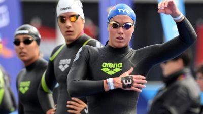 Natation: la France en bronze du relais mixte 5 km en eau libre à l'Euro