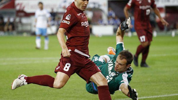 Iniesta scores first goal for Japanese side Kobe