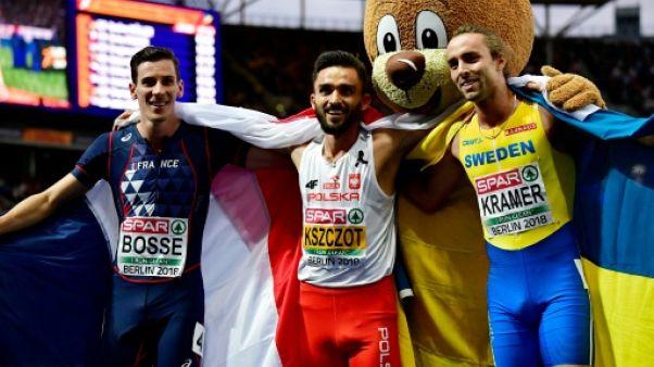 Euro d'athlétisme: 3e titre européen de suite pour Kszczot, au 800 m, Bosse en bronze