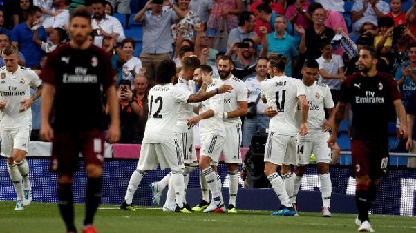 Trofeo Bernabeu, Real Madrid-Milan 3-1
