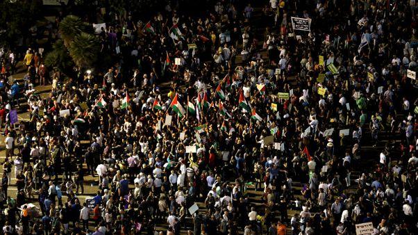 العرب في إسرائيل ينظمون مسيرات للاحتجاج على قانون الدولة القومية الجديد