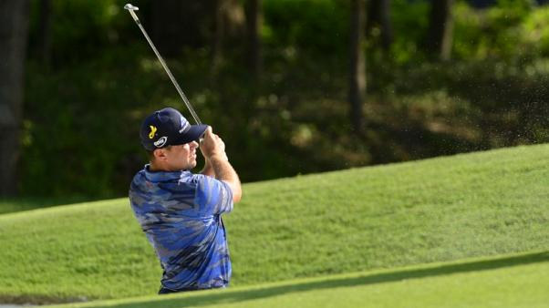 Woodland's PGA hopes nearly buried in sand trap horror show